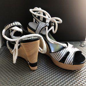 Ralph Lauren Wedge with Tie up Size 6.5